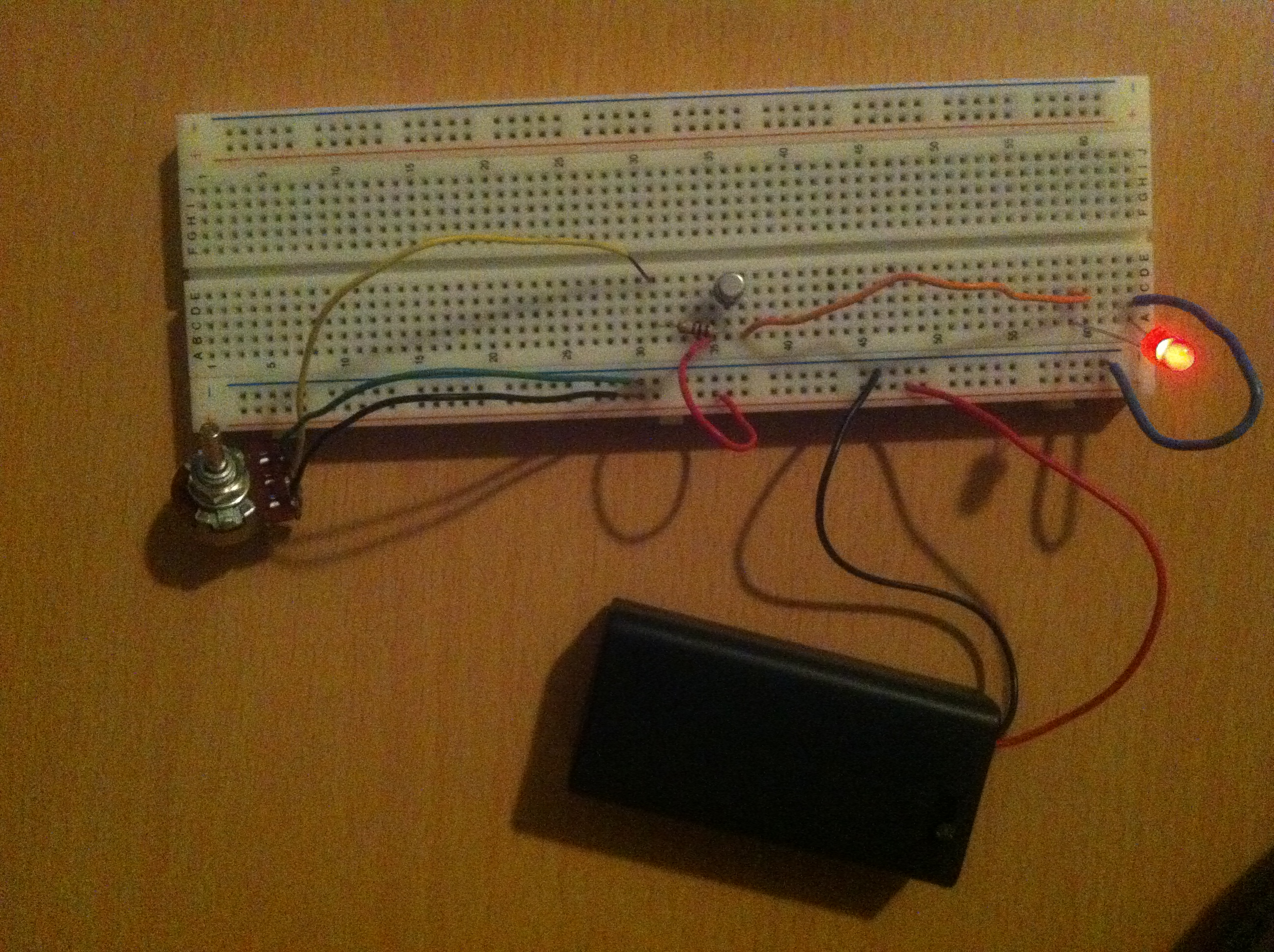 Transistor Current Amplifier Circuit Electrobotics Led On Breadboard Is Schematic Of Controlling Brightness